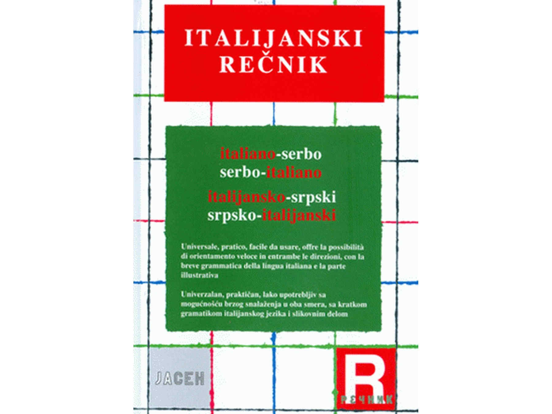 Recnik Italijansko Srpski Srpsko Italijanski Credebunthercf