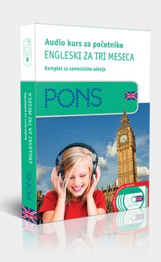 PONS Audio kurs/početni, engleski za tri meseca